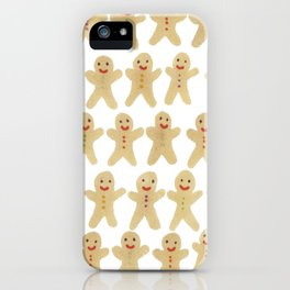 Gingerbread people iPhone Case