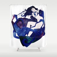 celestial Shower Curtains featuring Celestial by Stevyn Llewellyn