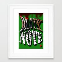 death note Framed Art Prints featuring death note  by DaBenGilbert