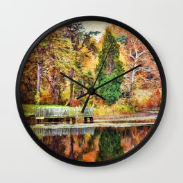 Finding Peace Wall Clock