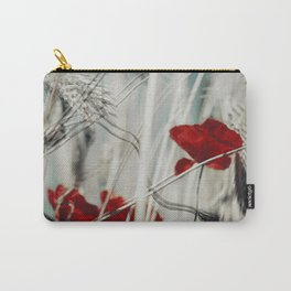 red spots - poppy blossoms in a field Carry-All Pouch