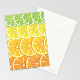 Grapefruit, lemon, orange and lime slices Stationery Cards