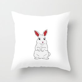 Anatomy Of The Bunny Top Happy Easter T-shirt Design Sniffle Snoot Flippy Floppers Fuzz Fuzzy Throw Pillow