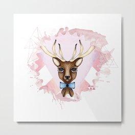 Pink Deer - Ciervo Rosa Metal Print