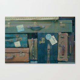 Vintage Suitcases (Color) Canvas Print
