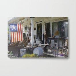 Americana Antiques Porch Display Metal Print