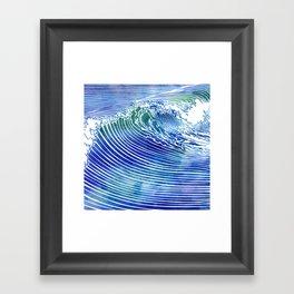 Atlantic Waves Framed Art Print