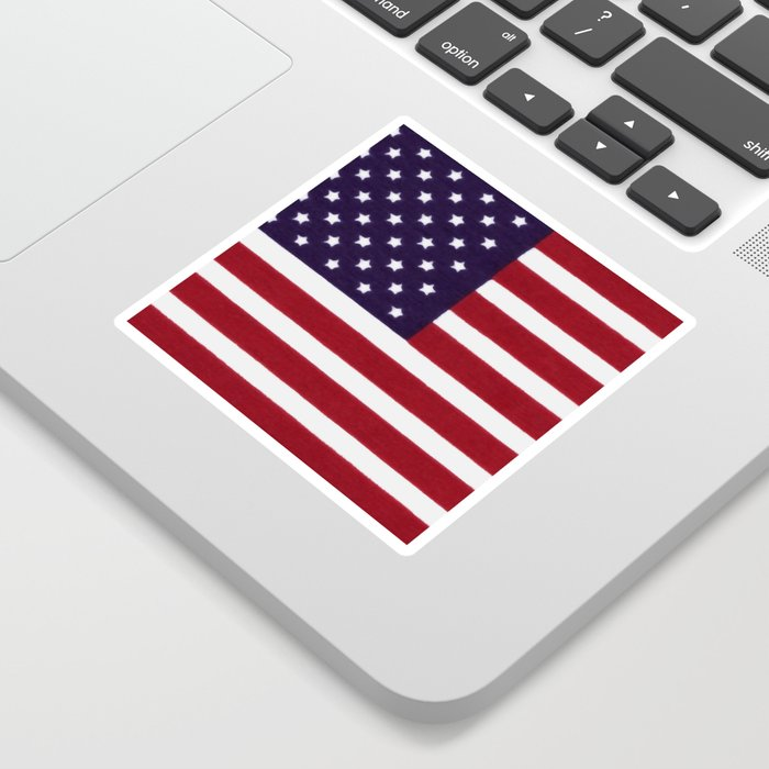 American flag with painterly treatment Sticker