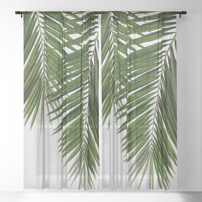 Palm Leaf II Sheer Curtain