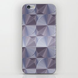 Shiny silver metal embossed surface iPhone Skin