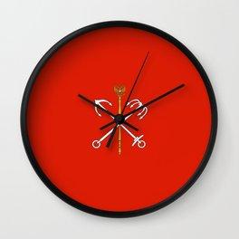 flag of Saint Petersburg Wall Clock
