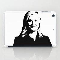 leslie knope iPad Cases featuring Leslie Knope by Bjarni Bragason