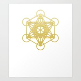 Sacred Geometry Metatron Gold Graphic Art Print