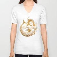mermaid V-neck T-shirts featuring Mermaid by Vladimir Stankovic