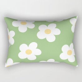 Retro 60's Flower Power Print 2 Rectangular Pillow
