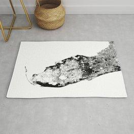 Florida State White Map Rug
