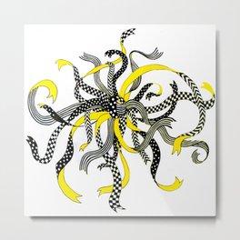 Swirling Ribbons Metal Print