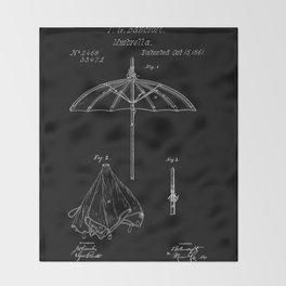 patent umbrela Throw Blanket