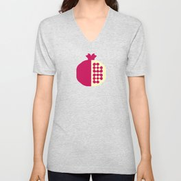 Fruit: Pomegranate Unisex V-Neck