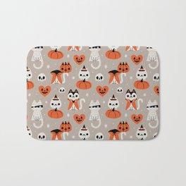 Halloween Kitties (Gray) Bath Mat