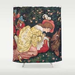 Beauty and the beast - Belle Mourns the beast Shower Curtain