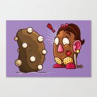 potato Canvas Prints featuring Potato Potaato by Artistic Dyslexia