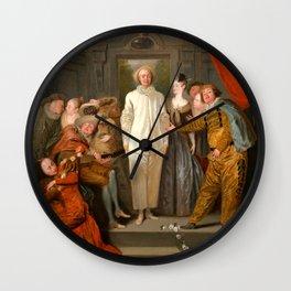 "Antoine Watteau ""The Italian Comedians"" (I) Wall Clock"