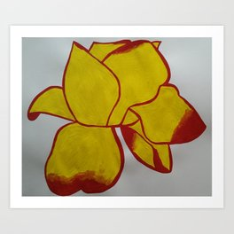 Handmade drawing of flower Art Print