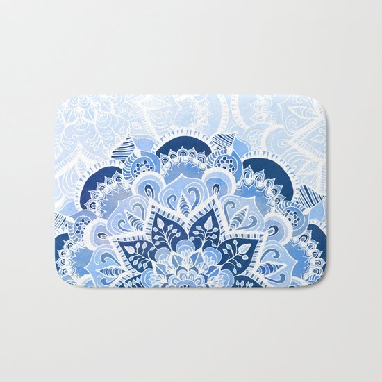 Lacy Blues Bath Mat