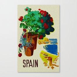 Retro Travel Poster - Spain Canvas Print