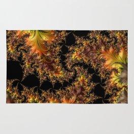 Autumn Leaves yellow brown orange Fractal Rug