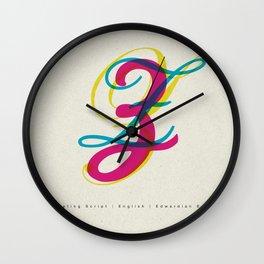 "Script ""Z"" Wall Clock"