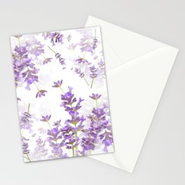 Lavender Bouquets On White Background #decor #society6 #buyart Stationery Cards