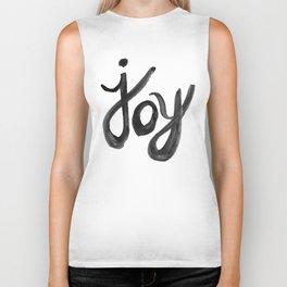 Brushed Joy Typography Biker Tank