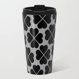 Flowery Hearts Pattern Travel Mug