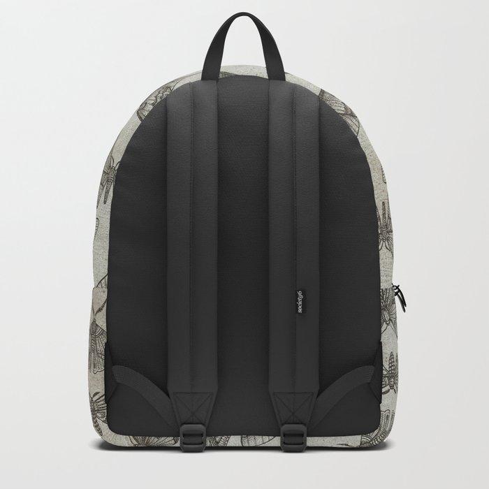 Lepidoptera Beige Backpack
