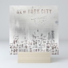 MODERN ART New York City Skylines Mini Art Print