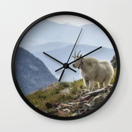 The Ups and Downs of Being A Mountain Goat No. 2a Wall Clock