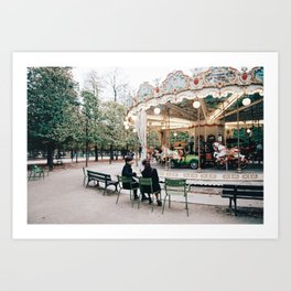 Lovers in Paris Art Print