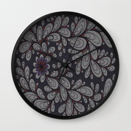 Red and Purple Wall Clock