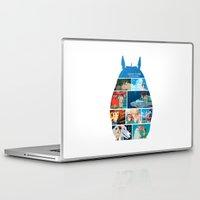 hayao miyazaki Laptop & iPad Skins featuring Hayao Miayazaki Films by adovemore