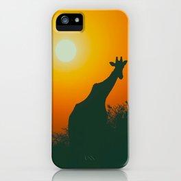 Lonely Sunset Giraffe iPhone Case
