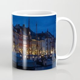 Nyhavn Copenhagen at Night Coffee Mug