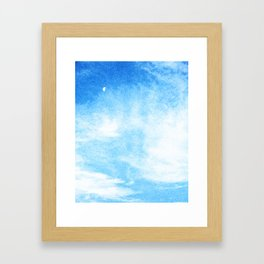 Moon in the Clouds Framed Art Print