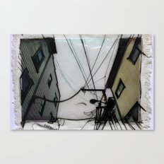 Wires in North Beach San Francisco Canvas Print