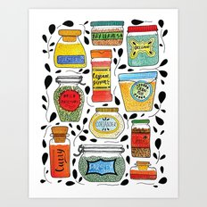 Spice Jars Art Print