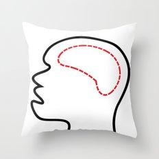 Empty Head Throw Pillow