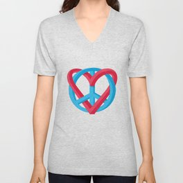 Peace + Love Unisex V-Neck