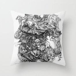 dreaming of escape Throw Pillow