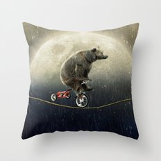 balancing act (under the weather) Throw Pillow